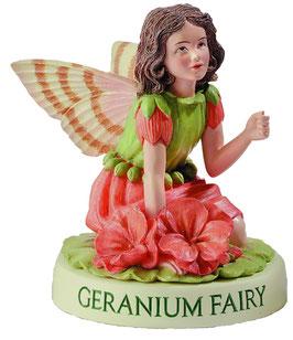 Flower Fairy auf Sockel Geranie