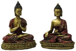 Buddha sitzend 2er Set