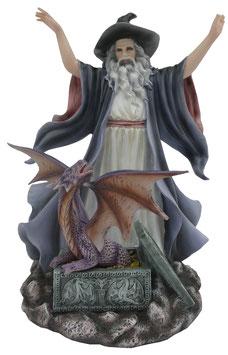 Merlin mit Drache