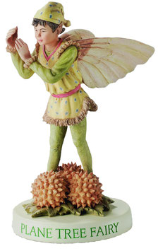 Flower Fairy auf Sockel Platane