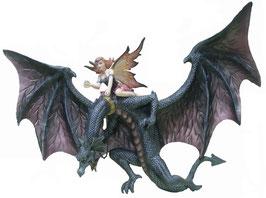 Wand-Drachen mit Elfe