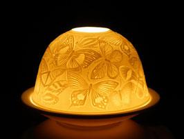 Porzellan - Windlicht Schmetterlinge