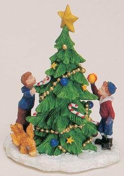 Miniatur Baum mit Kinder