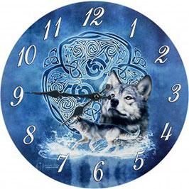 Brigid Aswood Uhr-Celtic Wolf
