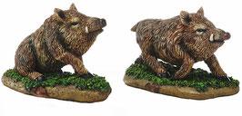 Wildschwein 2er Set