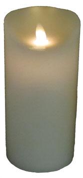 LED - Echtwachskerze beige