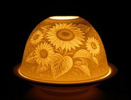 Porzellan - Windlicht Sonnenblumen