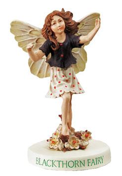 Flower Fairy auf Sockel Schlehdorn