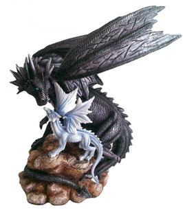 Drachen schwarz + weiss