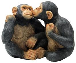 Schimpansen-Paar sitzend