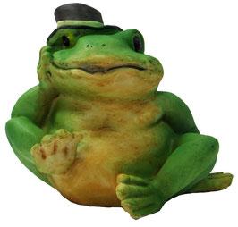 Frosch sitzend mit Hut