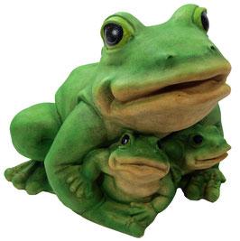 Frosch XXL mit zwei Babys