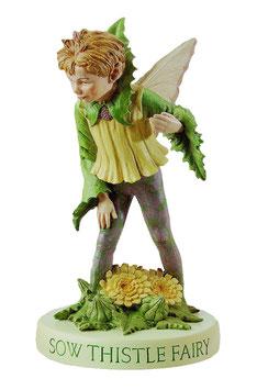 Flower Fairy auf Sockel Gänsedistel