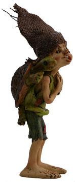Pixie stehend mit Schildkröte