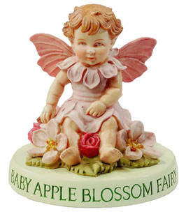 Flower Fairy auf Sockel Apfelblüten-Baby