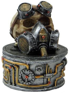 Steampunk-Schädel Dose