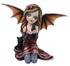 Vampir-Elfe kniend rot