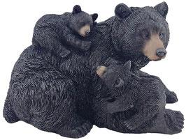 Bär mit zwei Jungen schwarz