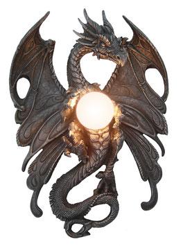 Drache Wandlampe schwarz
