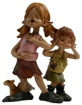 Pixie-Mädchen singt mit Kind