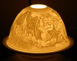 Porzellan - Windlicht Safari