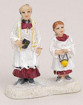 Miniatur Pastor mit Messdiener