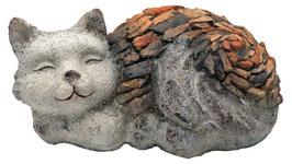 Gartenfigur-Katze