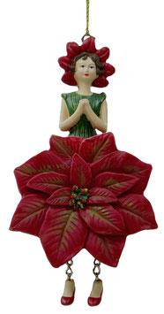 Poinsettiamädchen Hänger