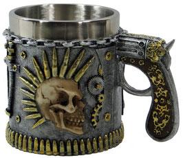 Steampunk-Krug Schädel