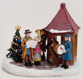 Miniatur Winterszene Musiker