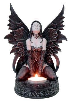 Fairy Myths-Elfe Teelichthalter schwarz-weiss