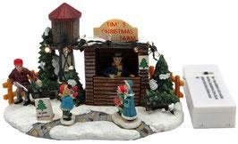 Miniatur Christbaum Verkaufsstand mit Beleuchtung