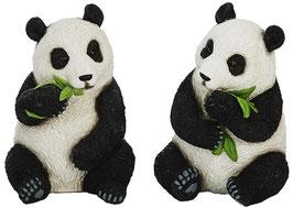 Panda sitzend 2er Set