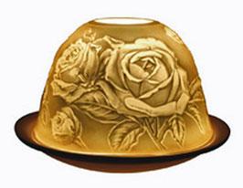 Porzellan - Windlicht Rose