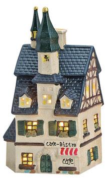 Porzellan Lichthaus Café-Bistro blaues Dach