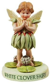 Flower Fairy auf Sockel weisser Klee