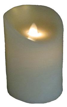 LED-Echtwachskerze beige