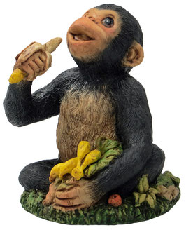 Schimpanse mit Bananen