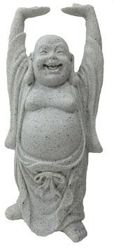 Buddha stehend steinfarbig