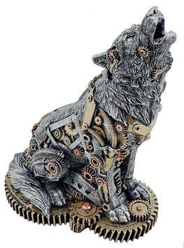 Steampunk-Wolf Räucherkegelhalter