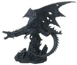 Drachen fliegend schwarz