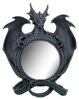 Drachen Stand-Spiegel schwarz