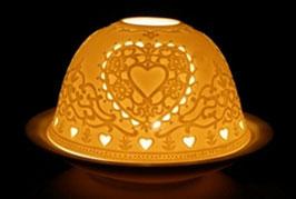 Porzellan - Windlicht Herz