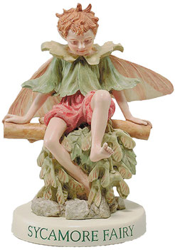 Flower Fairy auf Sockel Bergahorn