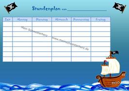 """Stundenplan """"Piratenschiff"""""""