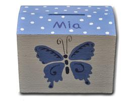 "Spardose ""Schmetterlinge Blau"""