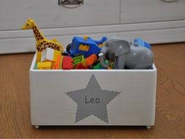 """Spielzeugkiste klein """"Sterne grau"""""""