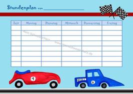 """Stundenplan """"Rennwagen"""""""