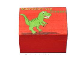 "Milchzahndose ""Dinosaurier rot"""