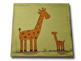 """Kinderzimmerbild """"Giraffenmutter mit Kind"""""""